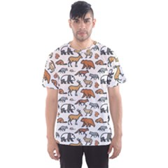 Wild Animal Pattern Cute Wild Animals Men s Sport Mesh Tee