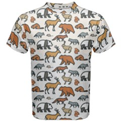 Wild Animal Pattern Cute Wild Animals Men s Cotton Tee