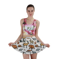 Wild Animal Pattern Cute Wild Animals Mini Skirt