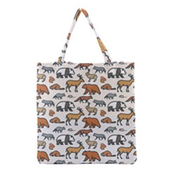 Wild Animal Pattern Cute Wild Animals Grocery Tote Bag