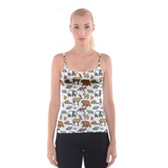 Wild Animal Pattern Cute Wild Animals Spaghetti Strap Top