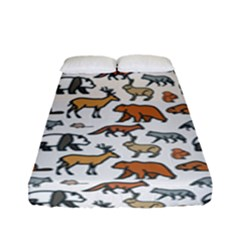 Wild Animal Pattern Cute Wild Animals Fitted Sheet (Full/ Double Size)