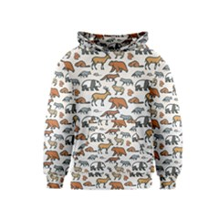 Wild Animal Pattern Cute Wild Animals Kids  Pullover Hoodie
