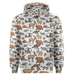 Wild Animal Pattern Cute Wild Animals Men s Zipper Hoodie
