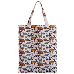Wild Animal Pattern Cute Wild Animals Zipper Classic Tote Bag