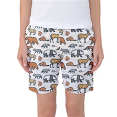 Wild Animal Pattern Cute Wild Animals Women s Basketball Shorts