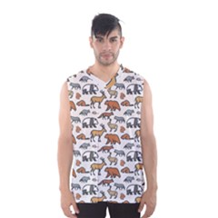 Wild Animal Pattern Cute Wild Animals Men s Basketball Tank Top