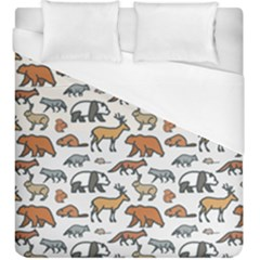 Wild Animal Pattern Cute Wild Animals Duvet Cover (King Size)