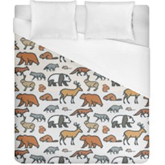Wild Animal Pattern Cute Wild Animals Duvet Cover (California King Size)