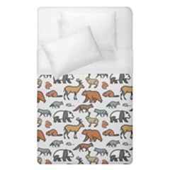 Wild Animal Pattern Cute Wild Animals Duvet Cover (Single Size)