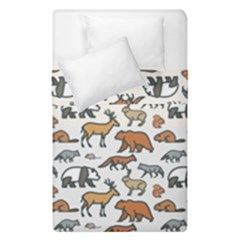 Wild Animal Pattern Cute Wild Animals Duvet Cover Double Side (Single Size)