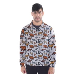 Wild Animal Pattern Cute Wild Animals Wind Breaker (Men)