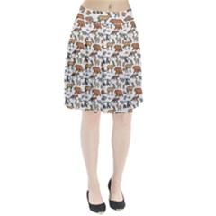 Wild Animal Pattern Cute Wild Animals Pleated Skirt