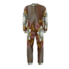 Elegant Antique Pink Kaleidoscope Flower Gold Chic Stylish Classic Design OnePiece Jumpsuit (Kids)