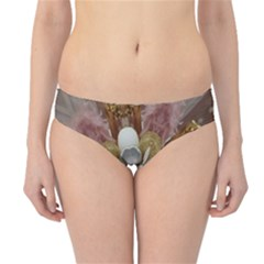 Elegant Antique Pink Kaleidoscope Flower Gold Chic Stylish Classic Design Hipster Bikini Bottoms