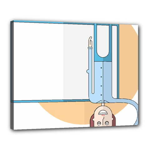 Presentation Girl Woman Hovering Canvas 20  x 16