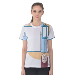 Presentation Girl Woman Hovering Women s Cotton Tee