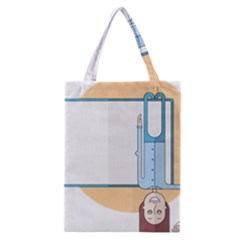 Presentation Girl Woman Hovering Classic Tote Bag