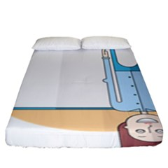 Presentation Girl Woman Hovering Fitted Sheet (King Size)