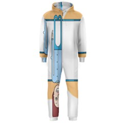 Presentation Girl Woman Hovering Hooded Jumpsuit (Men)