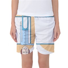 Presentation Girl Woman Hovering Women s Basketball Shorts