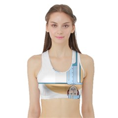 Presentation Girl Woman Hovering Sports Bra with Border