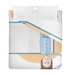 Presentation Girl Woman Hovering Duvet Cover Double Side (Full/ Double Size)