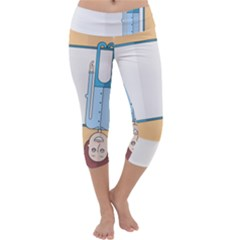 Presentation Girl Woman Hovering Capri Yoga Leggings