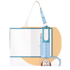 Presentation Girl Woman Hovering Large Tote Bag