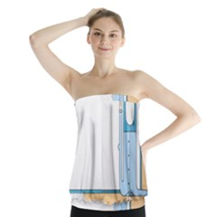 Presentation Girl Woman Hovering Strapless Top
