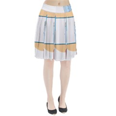 Presentation Girl Woman Hovering Pleated Skirt