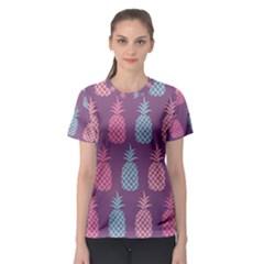 Pineapple Pattern Women s Sport Mesh Tee