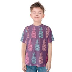 Pineapple Pattern Kids  Cotton Tee