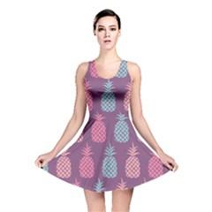 Pineapple Pattern Reversible Skater Dress