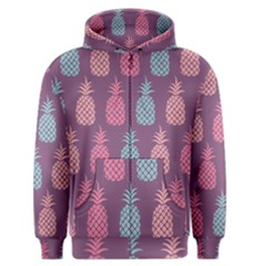 Pineapple Pattern Men s Zipper Hoodie