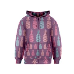 Pineapple Pattern Kids  Zipper Hoodie