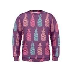 Pineapple Pattern Kids  Sweatshirt