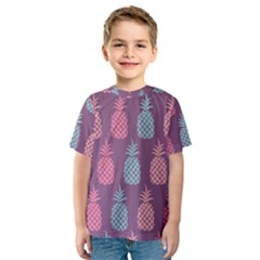 Pineapple Pattern Kids  Sport Mesh Tee