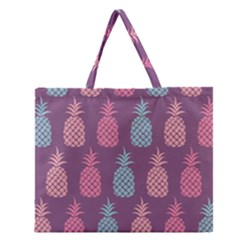 Pineapple Pattern Zipper Large Tote Bag