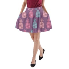 Pineapple Pattern A-Line Pocket Skirt