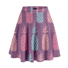 Pineapple Pattern High Waist Skirt