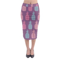Pineapple Pattern Midi Pencil Skirt