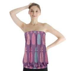 Pineapple Pattern Strapless Top