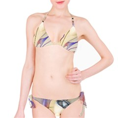 Pin Stripe Car Automobile Vehicle Bikini Set