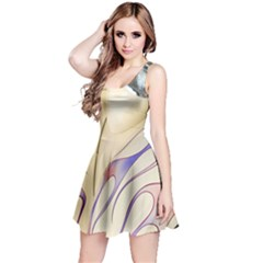 Pin Stripe Car Automobile Vehicle Reversible Sleeveless Dress