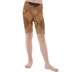 Mosaic The Elaborate Floor Pattern Of The Sydney Queen Victoria Building Kids  Mid Length Swim Shorts