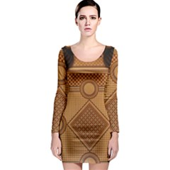 Mosaic The Elaborate Floor Pattern Of The Sydney Queen Victoria Building Long Sleeve Bodycon Dress
