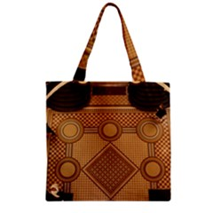 Mosaic The Elaborate Floor Pattern Of The Sydney Queen Victoria Building Zipper Grocery Tote Bag