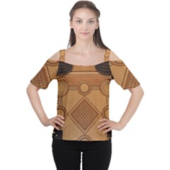 Mosaic The Elaborate Floor Pattern Of The Sydney Queen Victoria Building Women s Cutout Shoulder Tee