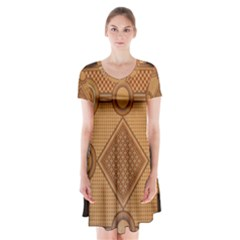 Mosaic The Elaborate Floor Pattern Of The Sydney Queen Victoria Building Short Sleeve V-neck Flare Dress